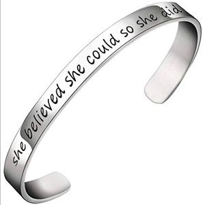 "New ""She Believed She Could So She Did"" Bracelet"